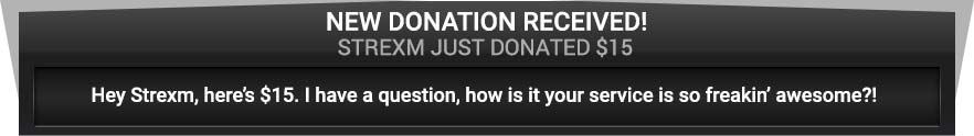 Donation alerts integrated